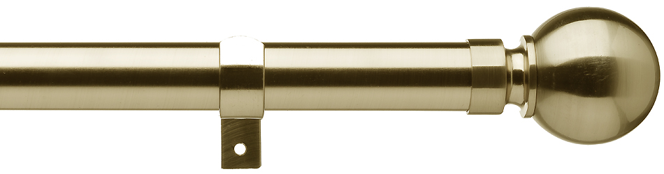 universal 28mm metal eyelet curtain pole antique brass ball just poles
