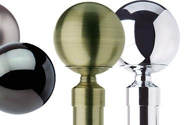 Jones Cosmos 28mm Metal Curtain Poles, contemporary curtain poles with adjustable brackets, with fantastic quality at exceptional prices
