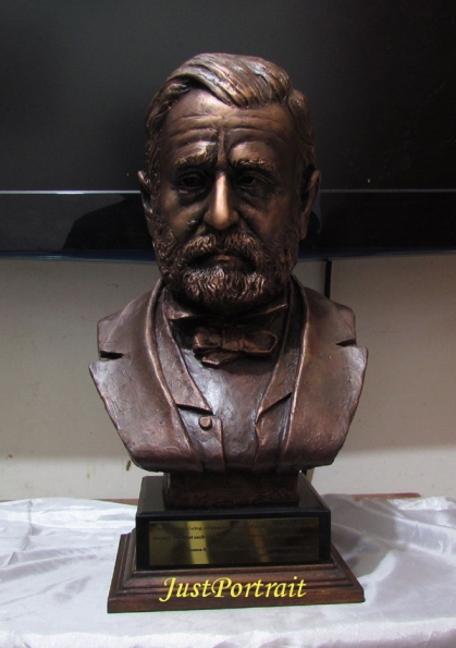 Bronze Of Portrait Bust And Relief Of Famous People