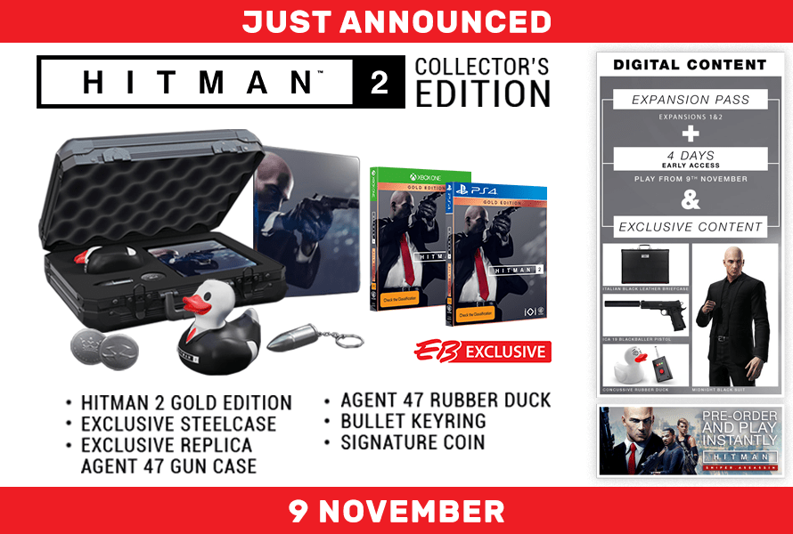 Hitman 2 Collectors Edition Has Been Revealed By EB Games