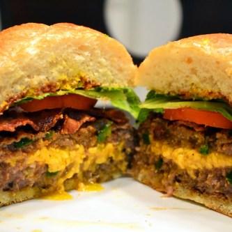Cheddar-Stuffed Jalapeno Burger