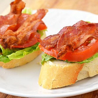 Open Faced BLTs