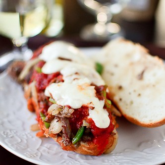 Pizza Steak Sub