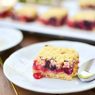 Mixed Berry Crumb Bars