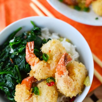 Chili-Garlic Panko Fried Shrimp