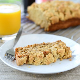 GF Banana Bread With Crunchy Streusel Topping