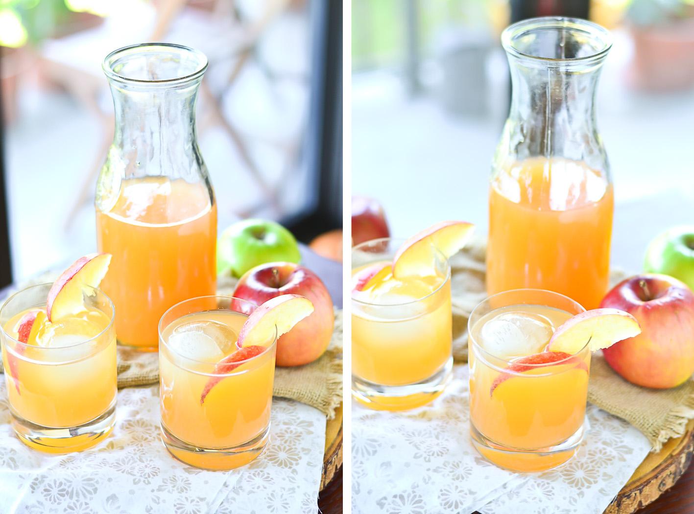Apple Cider Cocktail Collage