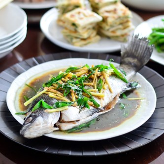 Chinese-Style Whole Steamed Fish