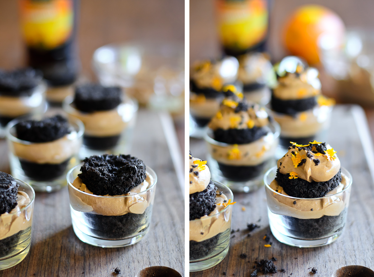 Dark Chocolate Olive Oil Mini Trifles