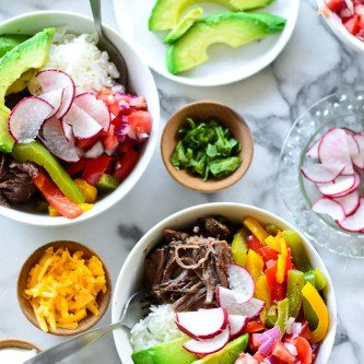 Crock Pot Short Rib Burrito Bowls