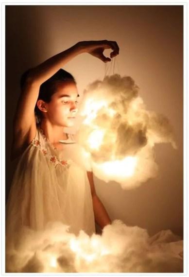 Como fazer luminária de nuvem! - Just Real Moms