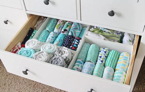 como organizar o guarda roupa do bebe 2
