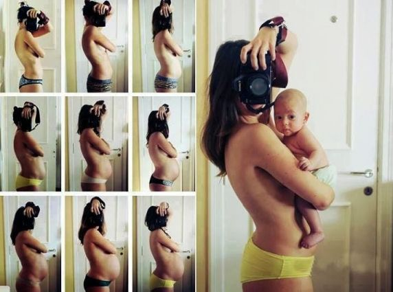 Ideias de fotos para acompanhar a gravidez - Just Real Moms