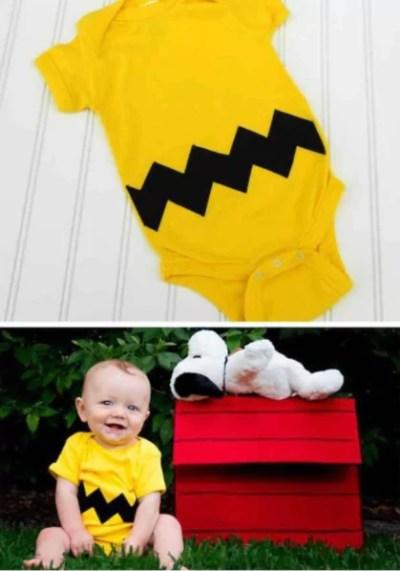 Neném com fantasia de Snoopy