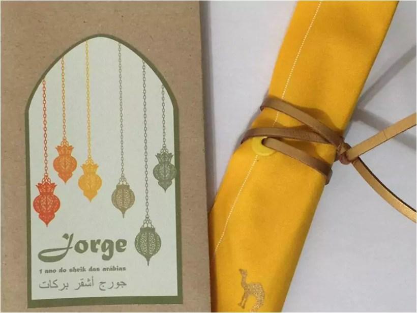 Festa com decoração temática de sheik das arábias para crianças