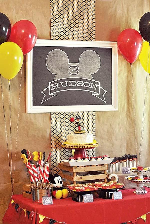 Ideias criativas para painel de festa de aniversário - Lousa