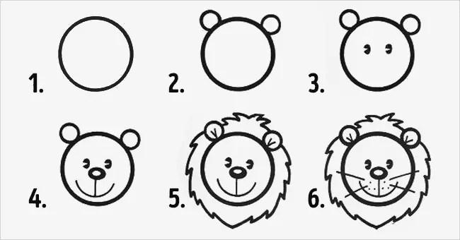 10 desenhos fáceis com círculos para fazer com as crianças!