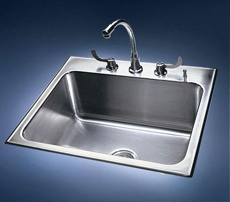 drop in sink stainless steel single bowl drop in sinks by just