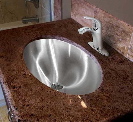 lavatory sink stainless steel bathroom