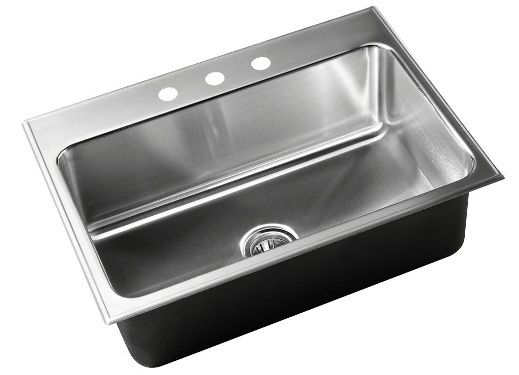 stainless steel single bowl drop in