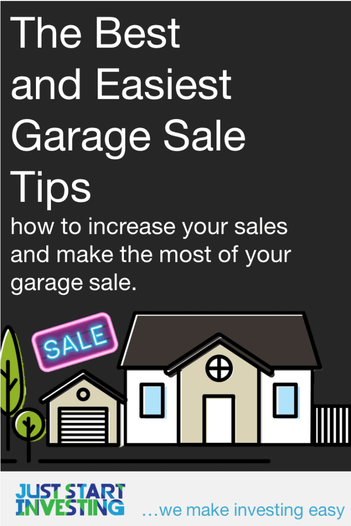 Garage Sale Tips - Pinterest