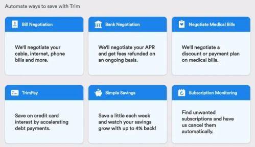 Trim App Review - Services
