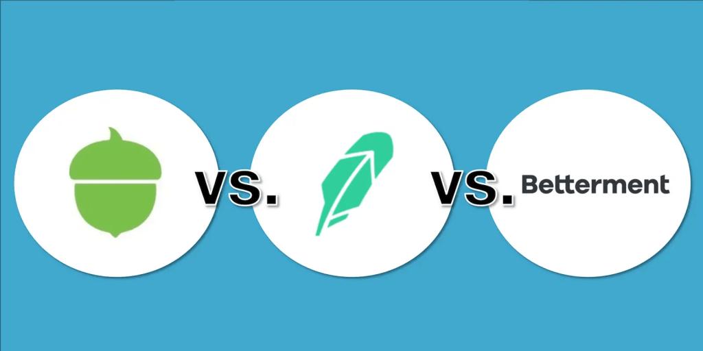 Acorns vs Robinhood vs Betterment - Feature