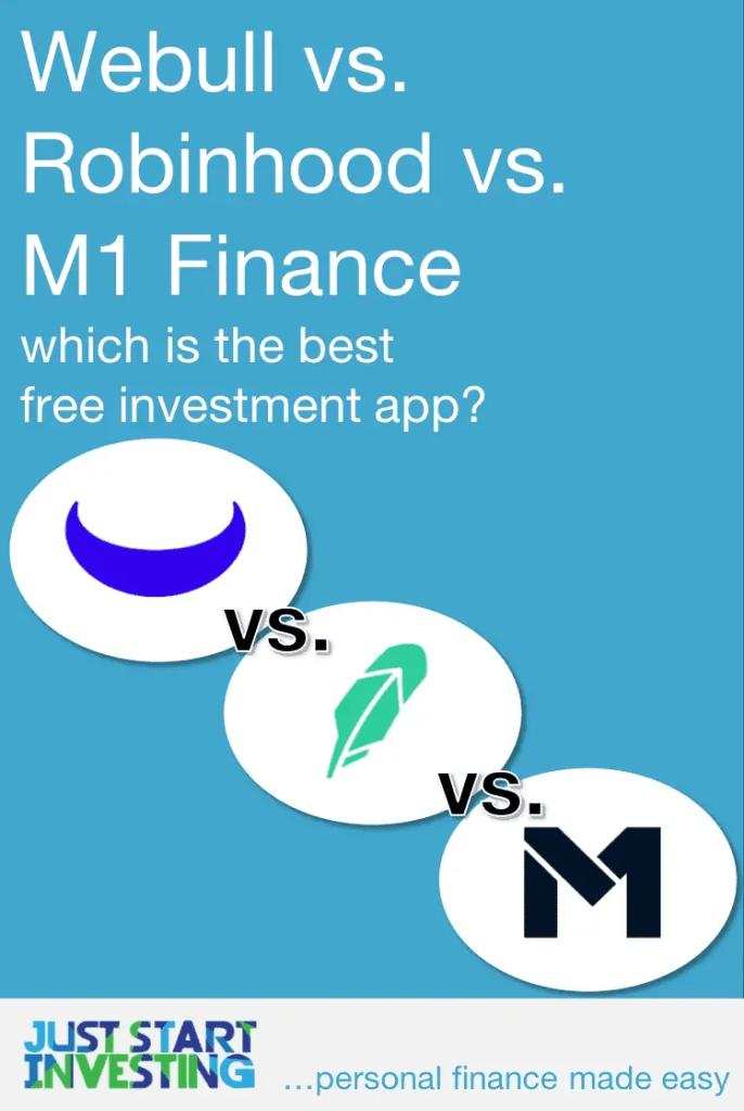 Webull vs Robinhood vs M1 Finance - Pinterest