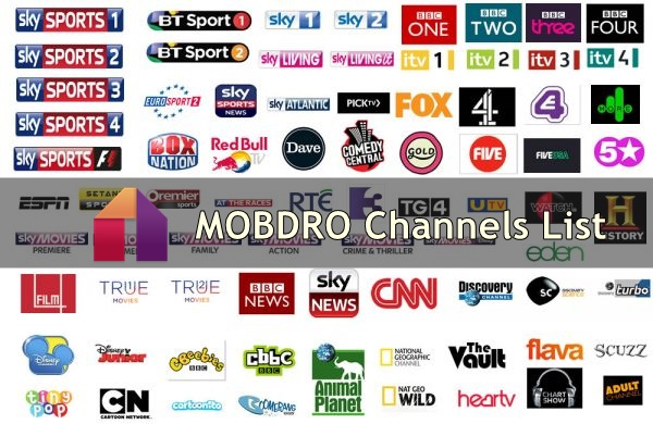 mobdro tv channels