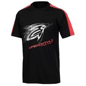 andro T-Shirt SpeedStyle 08 black/fire-red/silver