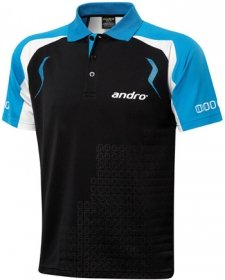 andro Polo MINGO Black/Blue 100% Polyester IndoorDRY