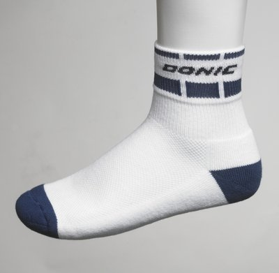Donic Table Tennis Sock Short, Alassio - White / Blk