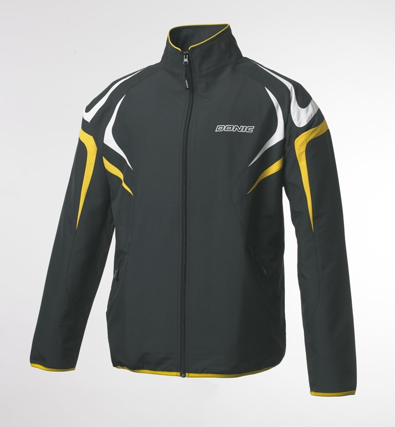 Donic Tracksuit Jacket Trophy Black/Yellow