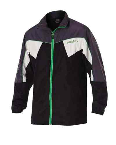 andro Tracksuit Jacket Preston black/grey/green/white