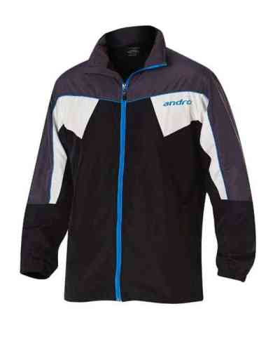 andro Tracksuit Jacket Preston black/grey/blue/white