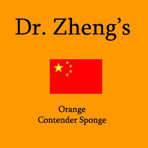 Dr. Zheng's Orange Medium Density Sponge