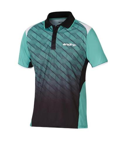 andro Polo Milos Green/Black 100% Polyester IndoorDRY