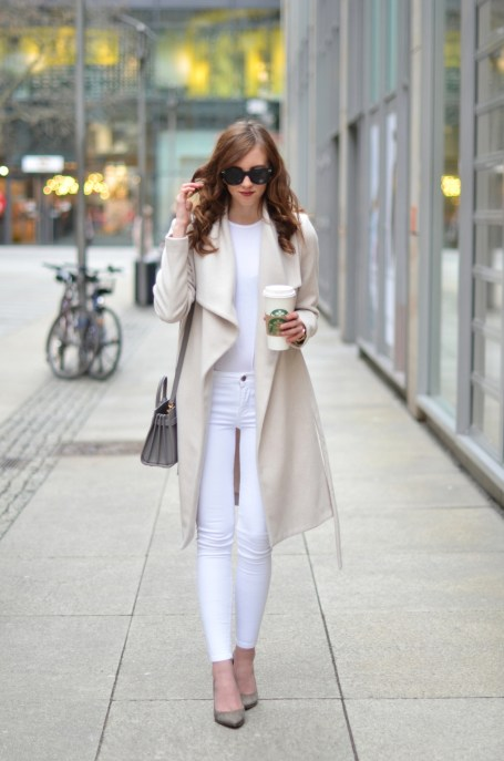 Image result for white jeans in winter