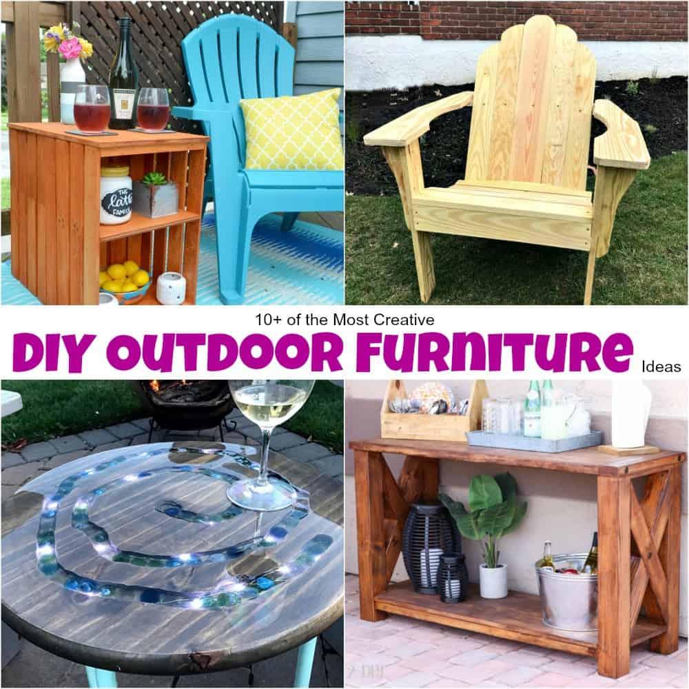 10+ of the Most Creative DIY Outdoor Furniture Ideas on Diy Backyard Patio Cheap  id=90320