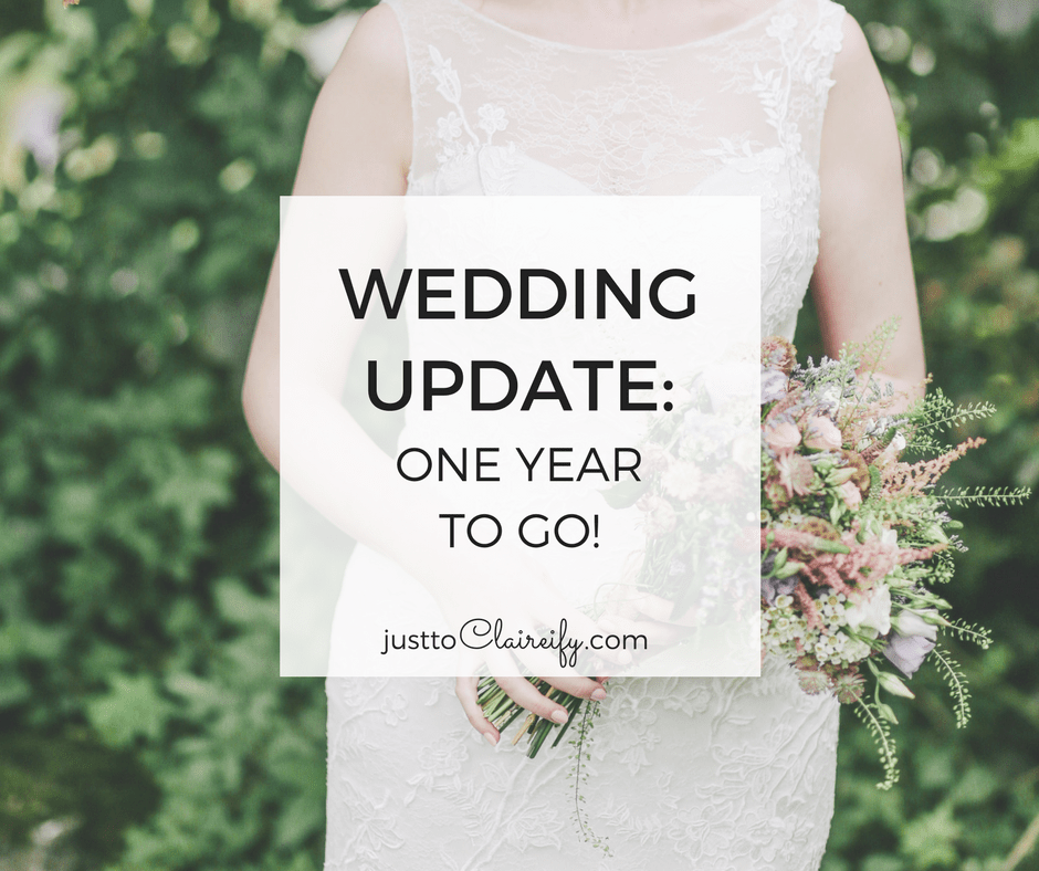 Find out where we're at in our wedding planning journey, with just 365 days left until the big day!