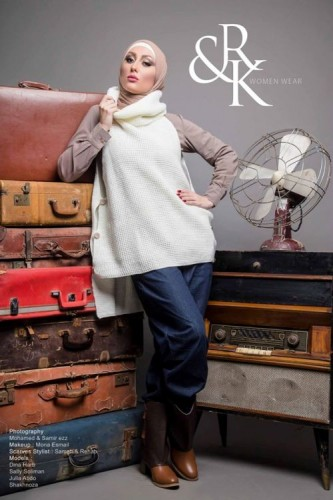 white vest hijab winter