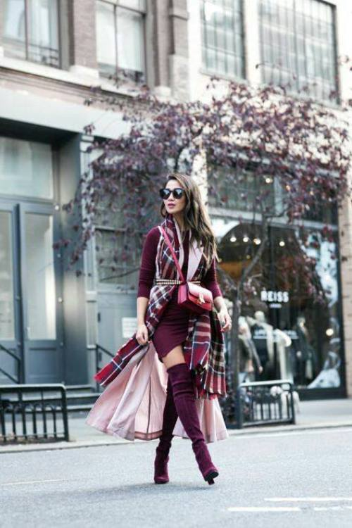 How To Wear Pink With Burgundy Just Trendy Girls