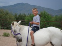 Riding the horse