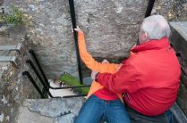 Tristan smooching the Blarney Stone