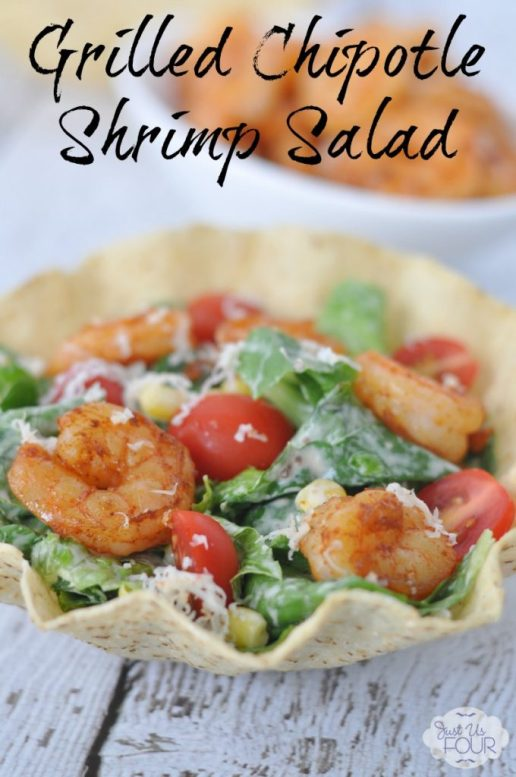 This chipotle shrimp salad is the perfect hot weather lunch option.