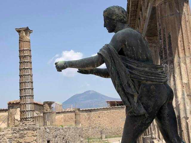 Pompeii Overlooked By Mount Vesuvius