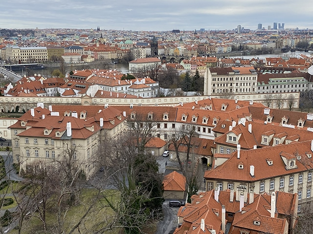 View Over The City Of Prague, Czech Republic