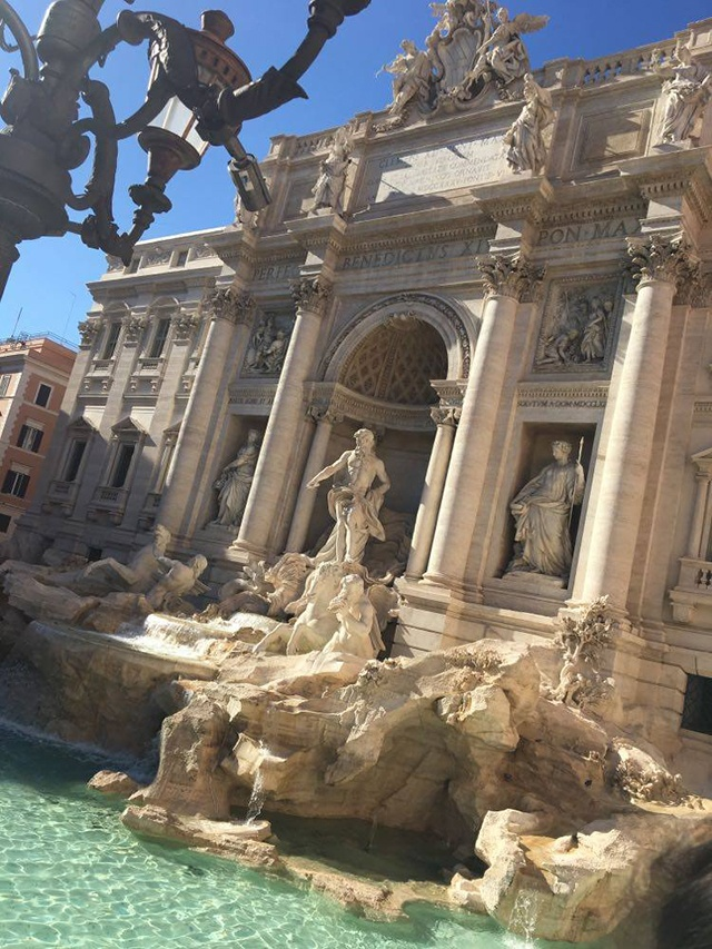 Trevi fountain. Seen during our surprise trip to Rome.