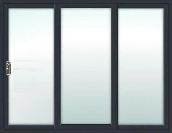 aluminium 3 pane patio door