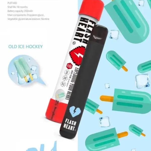 Flash heart old ice hockey